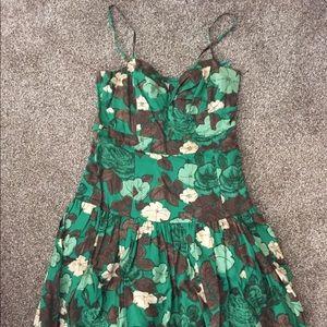 Green Floral Size 4 Anthropologie Dress